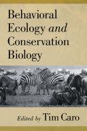 Behavioral Ecology and Conservation Biology Pdf/ePub eBook
