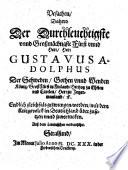 Vrsachen, Dahero Der Durchleuchtigste ... Fürst ... Gustavus Adolphus ... gezwungen worden, mit dem Kriegsvolk in Deutschland über zusetzen