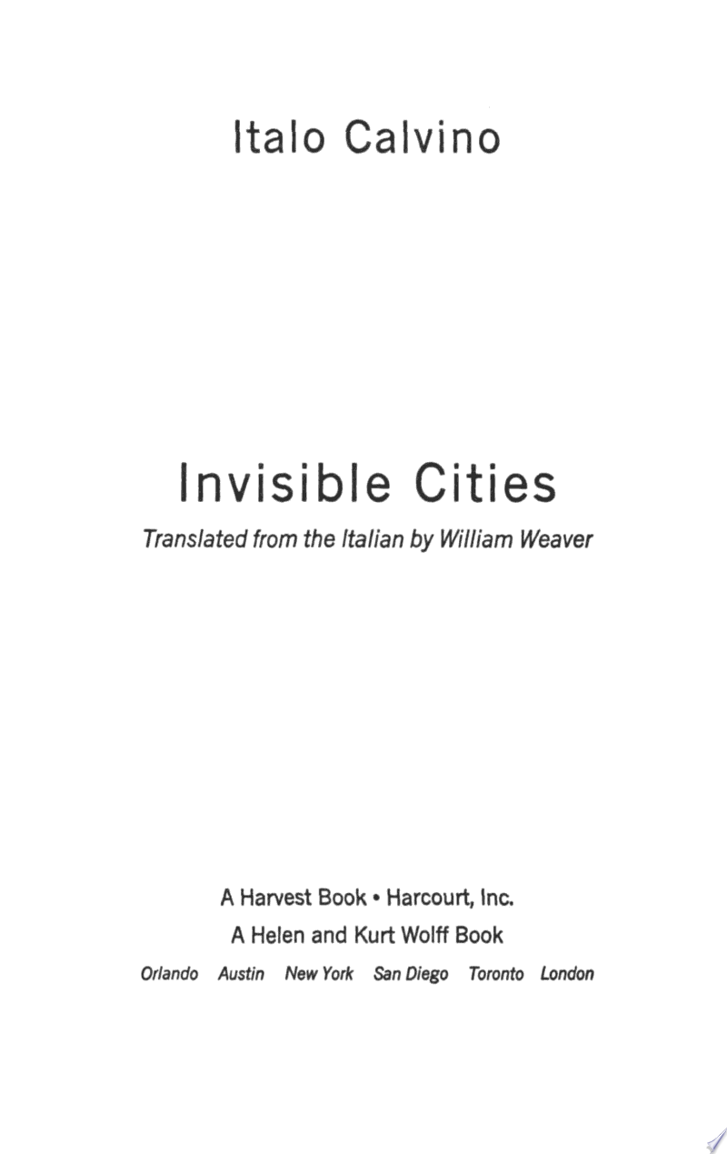 Invisible Cities image