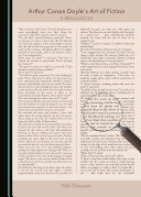 Pdf Arthur Conan Doyle's Art of Fiction Telecharger