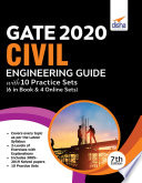 Gate 2020 Civil Engineering Guide With 10 Practice Sets 6 In Book 4 Online 7th Edition