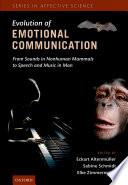The Evolution of Emotional Communication Book