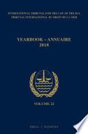 Yearbook International Tribunal For The Law Of The Sea Annuaire Tribunal International Du Droit De La Mer Volume 22 2018