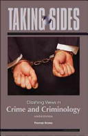Taking Sides  Clashing Views in Crime and Criminology Book PDF