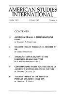 American Studies International PDF