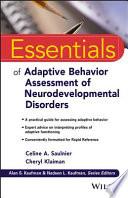 Essentials of Adaptive Behavior Assessment of Neurodevelopmental Disorders