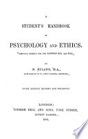 A Student s Handbook of Psychology and Ethics
