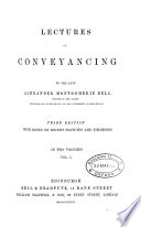 Lectures on Conveyancing