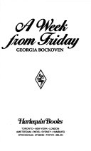 A Week from Friday Book PDF