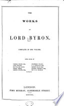 The Works of Lord Byron  Complete in One Volume Book