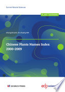 Chinese Plants Names Index 2000 2009