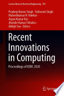 Recent Innovations in Computing