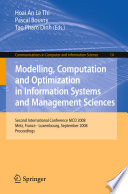 Modelling Computation And Optimization In Information Systems And Management Sciences Book PDF
