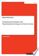 Demokratieverständnis und Populismusbewertung von Ernesto Laclau