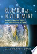 Research as Development