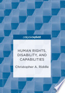 Human Rights Disability And Capabilities Book