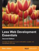Less Web Development Essentials   Second Edition