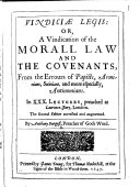 Vindici   Legis  or  a Vindication of the morall law and the covenants     The second edition  corrected and augmented