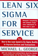 Lean Six Sigma for Service Book