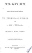 Plutarch S Lives Translated From The Original Greek Book PDF