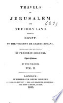 Travels To Jerusalem And The Holy Land