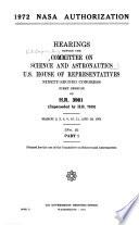 1972 NASA Authorization