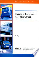 Plastics In European Cars  2000 2008