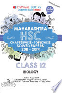 """Oswaal Maharashtra HSC Solved Papers Class 12 Biology Chapterwise & Topicwise (For March 2020 Exam)"" by Oswaal Editorial Board"