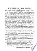 The Historical Magazine And Notes And Queries Concerning The Antiquities History And Biography Of America