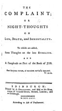 The Complaint: or, Night-thoughts ... A new edition, etc. By E. Young ebook