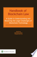 Handbook of Blockchain Law