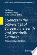 Sciences In The Universities Of Europe Nineteenth And Twentieth Centuries
