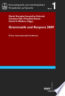 Grammar   Corpora 2009 Book PDF