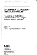Information Management Research in Europe