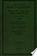 Annual Bibliography Of English Language Literature