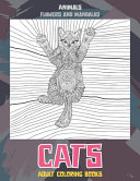 Adult Coloring Books Flowers and Mandalas   Animals   Cats