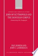 John Of Scythopolis And The Dionysian Corpus