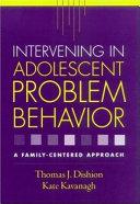 Intervening in Adolescent Problem Behavior