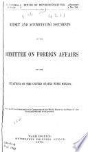 Documents Relating to the Foreign Relations of the United States with Other Countries During the Years from 1809 to 1898 Book