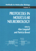 Protocols in Molecular Neurobiology Book