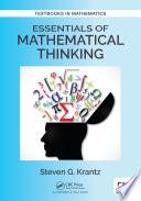 Essentials of Mathematical Thinking