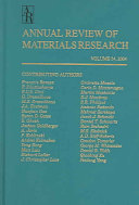 Annual Review of Materials Research Book