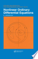 Nonlinear Ordinary Differential Equations Book
