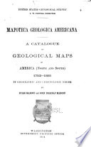A Catalogue of Geological Maps Relative to North and South America