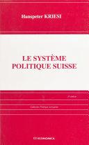 Le système politique suisse Pdf/ePub eBook