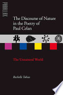 The Discourse of Nature in the Poetry of Paul Celan
