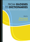 From Glosses to Dictionaries