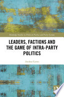 Leaders Factions And The Game Of Intra Party Politics