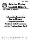 Fisheries Centre Research Reports Book