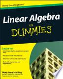 Linear Algebra For Dummies Book